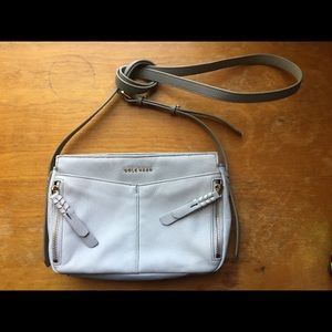 Cole Haan Leather Crossbody Bag - Gray/Taupe